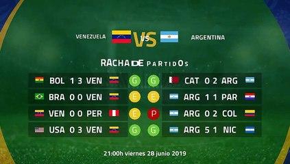 Previa partido entre Venezuela y Argentina Jornada 1 Copa América