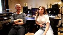 Maëlle en studio avec Calogero pour son premier album