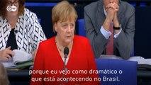 """Merkel sobre situação ambiental no Brasil: """"Dramática"""""""