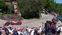 Verstappen races up streets of Graz in F1 car to reach hill-top landmark