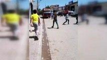 Şanlıurfa'da aileler arasındaki kavga kamerada