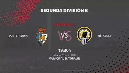 Previa partido entre Ponferradina y Hércules Jornada 3 Segunda B - Play Offs Ascenso