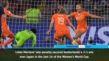 FOOTBALL FIFA Women's World Cup Fast Match Report - Netherlands 2-1 Japan