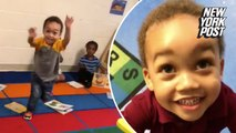 'Daddy!': Preschooler's pure joy at seeing his father will melt your heart