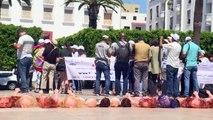 Manifestantes nas ruas pela legalização do aborto no Marrocos