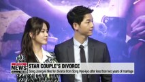 Song Joong-ki files for divorce from Song Hye-kyo