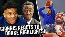 Giannis, Siakam - Other NBA Stars React To DRAKE Highlights-