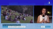 Canicule : les Parisiens profitent de l'ouverture nocturne des parcs