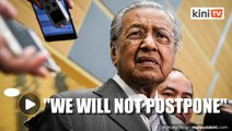 Bersatu will not postpone party polls, says Dr M
