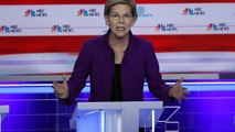 Elizabeth Warren is standout candidate in first TV debate for Democrat nomination