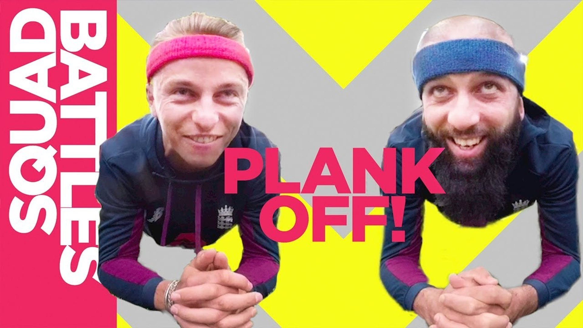 Who will drop first? Moeen Ali vs Tom Curran - Epic Plank Off - Squad Battles - Challenge 4