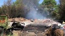 Incendie hangar agricole à Ouffet