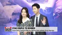 Star actor Song Joong-ki files for divorce from actress Song Hye-kyo