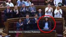 Ni Podemos ni el resto de apoyos del Gobierno de Sánchez aplauden la intervención de Mari Mar Blanco