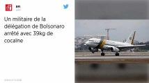 Un militaire brésilien de la délégation du président Jair Bolsonaro arrêté avec 39kg de cocaïne