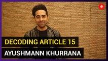 Caste system should be eradicated: Ayushmann Khurrana