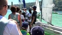 Reportage - Ils s'essayent à la voile au lac de Paladru