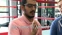 Deafblind 21-year-old Ahmed Alenezi tells his story of learning to box