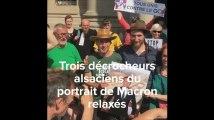 Strasbourg: Relaxe pour trois «décrocheurs» d'un portrait de Macron