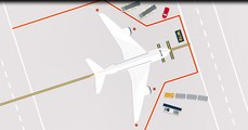 Lay the ground for a safe flight - During the approach and withdrawal of equipment, avoid aircraft damage