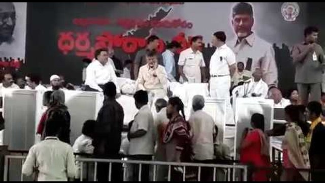 CM Chandrababu Naidu sits on 12-hour fast on his birthday demanding SCS for Andhra Pradesh