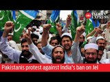Pakistanis protest  in Lahore against India's ban on Jamaat-e-Islami