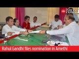 Lok Sabha elections 2019: Rahul Gandhi files nomination after grand roadshow in Amethi