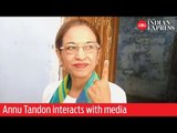 India Elections 2019: Annu Tandon interacts with media after casting her vote