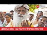 India Elections 2019: Jaggi Vasudev cast his vote from Coimbatore Lok Sabha constituency