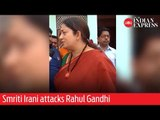 Phase 5: BJP's Amethi candidate and Union Minister Smriti Irani attacks Rahul Gandhi