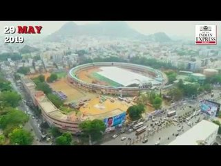IGMC stadium gets ready for Jagan Mohan Reddy's swearing-in ceremony