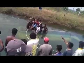 Horrible Video: Private Bus Falls Into Canal Near Mandya