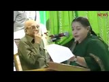 File video of J Jayalalithaa recounting OPS's long political history and praising his patience
