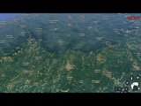 Google Earth View of Madikeri