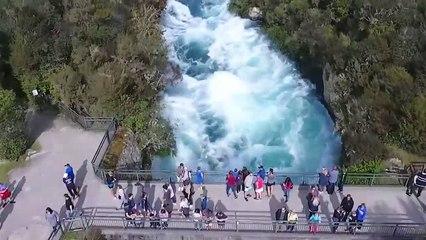 Huka Falls  New Zealand by drone