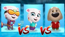 Cyber Angela vs Neon Angela vs My Talking Ben — Talking Tom Gold Run — Cute Puppy and Cats
