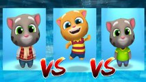 Frosty Tom vs My Talking Ginger vs My Talking Tom — Talking Tom Gold Run — Cute Puppy and Cats