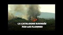 En pleine canicule, un incendie hors de contrôle en Espagne