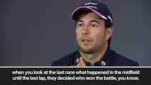 (Subtitled) 'There are a lot of boring races' at the front in F1 admits Sergio Perez