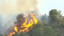 Spagna, enorme incendio in Catalogna