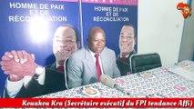 Kouakou Kra (Secrétaire exécutif du FPI tendance Affi) explique les acquis des discussions avec le gouvernement sur la réforme de la CEI