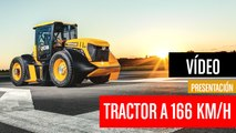 [CH] El tractor amarillo JCB Fastrac corre a 166 Km/h