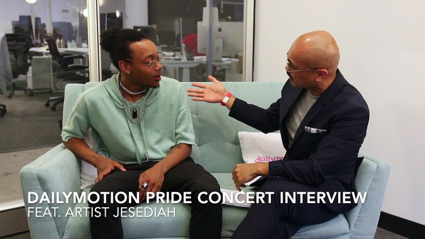 Dailymotion Pride Concert Interview with artist: Jesediah
