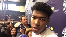 Rui Hachimura says he has to adjust his shot a little bit