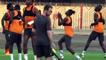 Morocco and Ivory Coast train ahead of Group D match