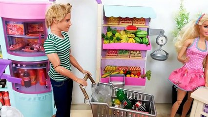 Barbie Grocery Shopping with Ken! Barbie Supermarket Grocery Store باربي مارت Barbie Supermercado | Karla D.