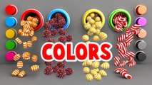 Learn Colors for Toddlers Kids Babies with A Lot of 3D Candy Surprise Eggs
