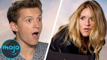 """""""Spider-Man: Far From Home"""" Cast Reacts to Meeting WatchMojo - FULL Interview"""