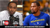 Stephen A Smith SHOCKED Kevin Durant refus - 31.5M player opt to make a deal with Nicks