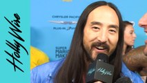 Steve Aoki Talks About Working With Monsta X & His Dim Mak Street Wear Collection | Hollywire